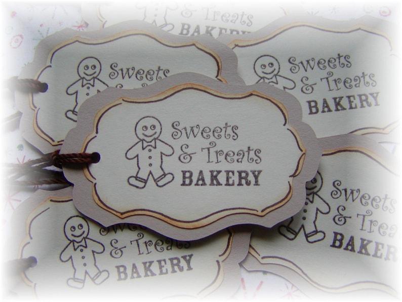 Bakery 6 Gingerbread Man Tags Sweet Treats