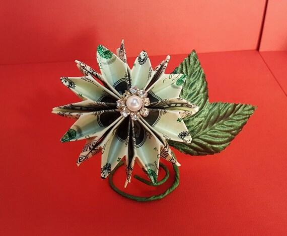 Money Twist Tie Modular Flower - Make-Origami.com | 470x570