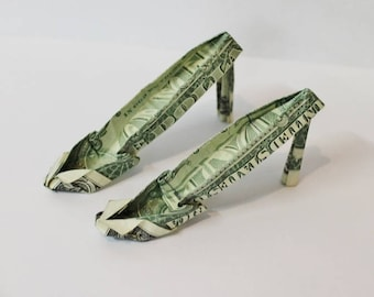 Money Origami High Heeled Shoes - Choose your denomination