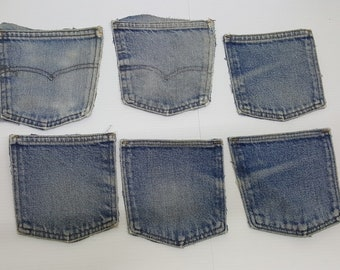 Lot of Six denim pockets