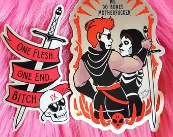 Stickers: GIdeon and Harrow the Ninth