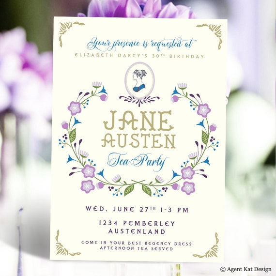 52001ae09087 Jane Austen Tea Party Invitation Pride   Prejudice Bridal
