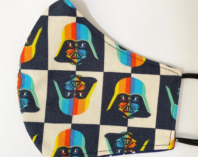 TEEN Mask - Darth Vader - Star Wars - Colorful - Polaroid - Trendy - Boys - Unisex- Kid - Back to School - Small Face - Tween - In Person