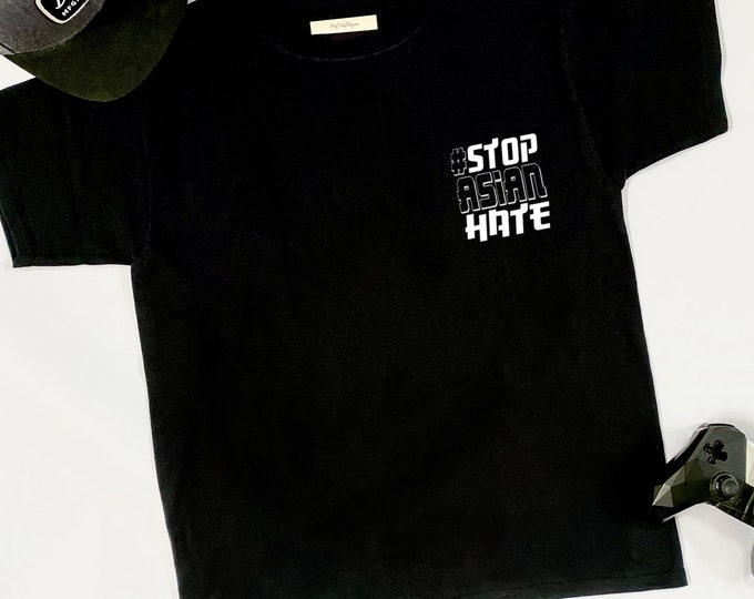 STOP ASIAN HATE Hashtag - Graphic Tshirt - Mens - Racial Injustice - Asian American - Equality - Political - Azn - Japanese - Chinese Hapa