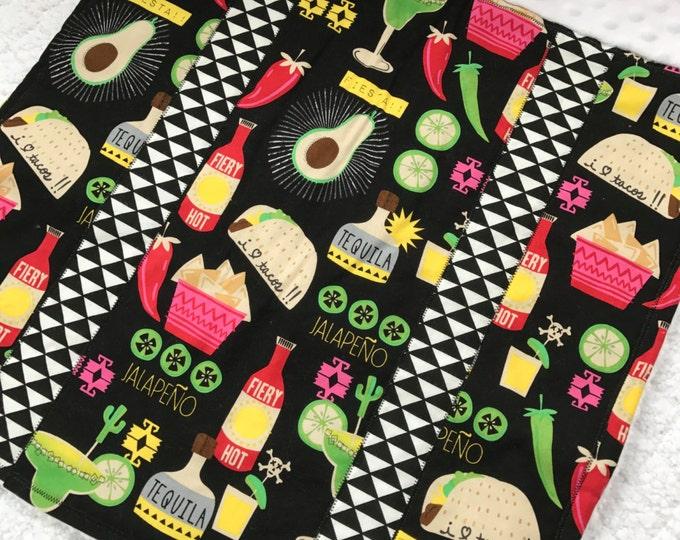 It's Taco Tuesday! Car Seat Blanket - Vibrant Black
