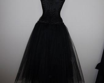 c946099e58 womens lined tutu skirt long black tulle full length adult goth wedding  petticoat prom burlesque rockablly skirt usa plus size 18 20 22 24