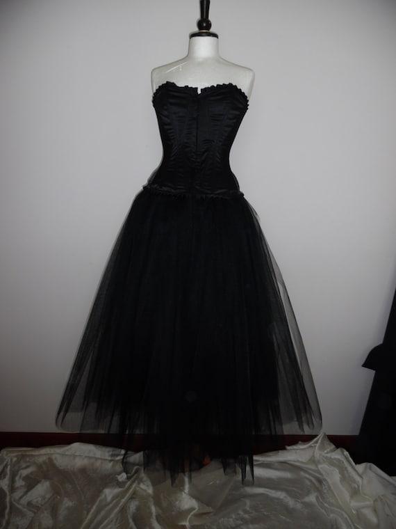 Womens Black Multi Layered petticoat//tutu//flamenco Skirt for Corset//Costume