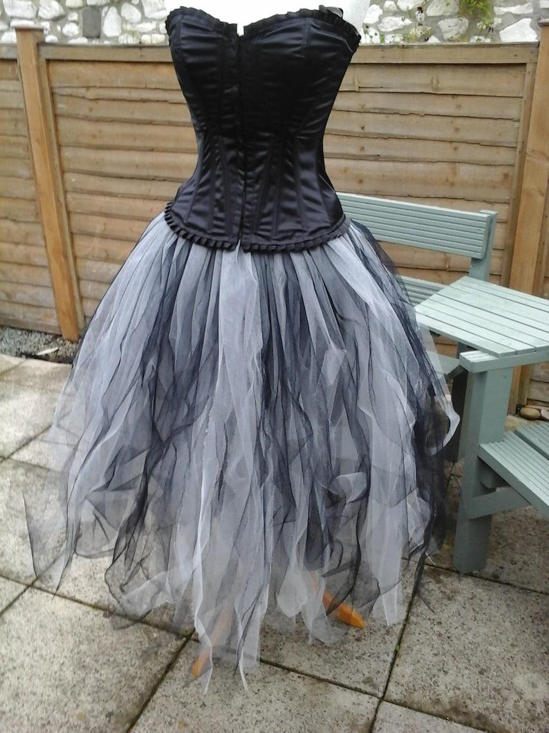 0a07084286 Tutu skirt long LINED petticoat underskirt slip gray black | Etsy