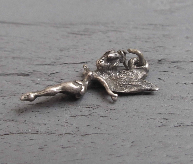Sterling Silver Disney Tinkerbell Fairy Charm Tinkerbell Charm for Charm Bracelets or Pendant Sterling Silver Tinkerbell Charm