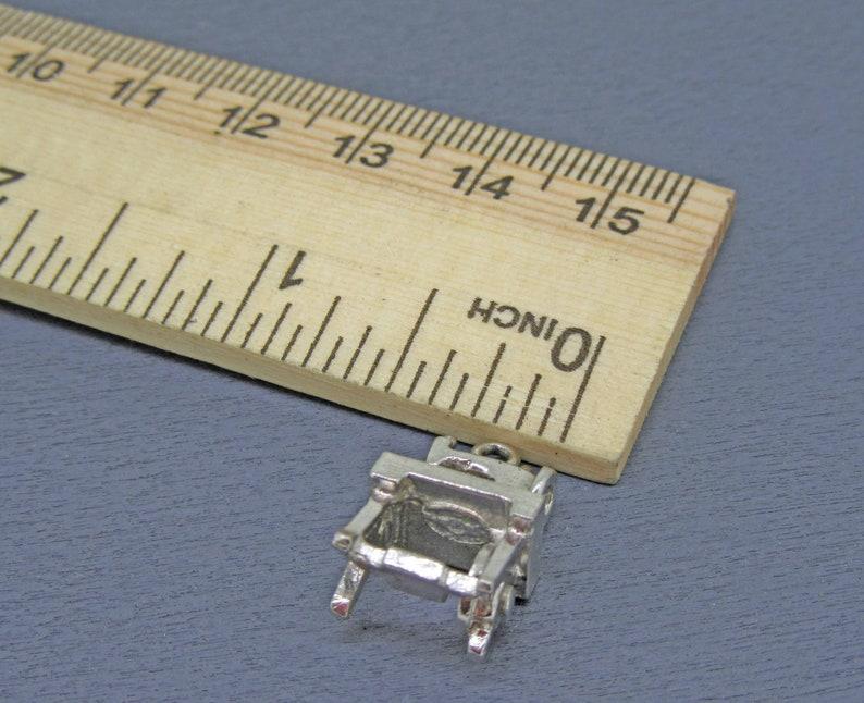 Vintage Sewing Machine Charm Seamstress Charm Moving Sterling Sewing Machine Charm Sewing Charm for Charm Bracelet