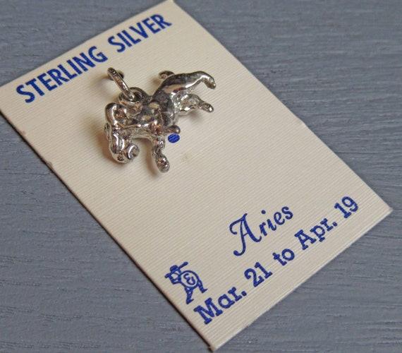 Sterling Silver Astrology Charm Aries Ram Charm Horoscope Charm for Charm Bracelets Aries Zodiac Charm