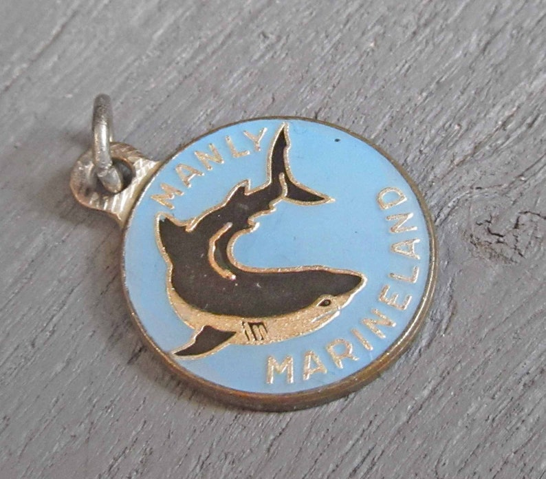Australia Manly Sea Life Sanctuary Souvenir in Manly Vintage Manly Marineland Enamel Charm Shark Charm New South Wales