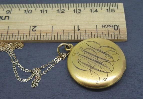 Rhinestone Clasp Victorian Antique 4 Picture Locket Necklace Hand Oxidized Chain