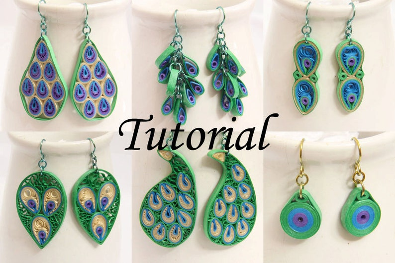 Tutorial for Paper Quilled Peacock Earrings PDF   Peacock image 0