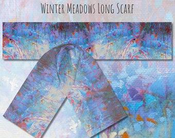 """Long Scarf, """"Seasonal Meadows"""", two sizes"""