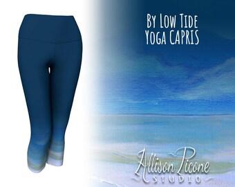 """Yoga Capris in """"By Low Tide"""" (dark blue)"""