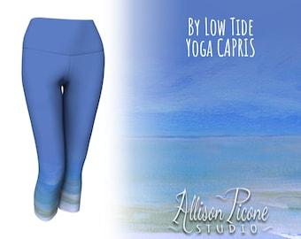 """Yoga Capris in """"By Low Tide"""" (light blue)"""