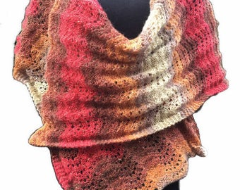 Shawl/Wide Scarf Knitting Kit - Colour Autumn