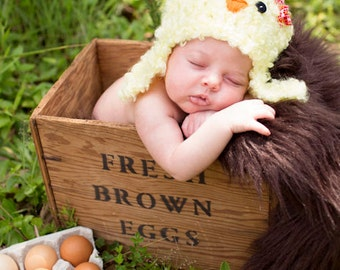 Baby Chick Hat PDF Crochet Pattern