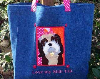 315d47ff9b Love my Shih Tzu Tote Bag