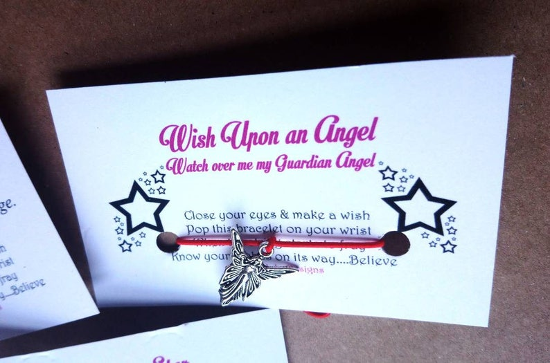 Wish Upon An Angel Watch Over Me My Guardian Angel Wish Upon A Charm  Bracelet - Cute Gift