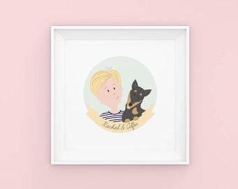 Custom Illustrated Portrait - Custom Pet Portrait