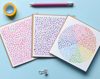 Set of 3 Floral Watercolour Note Cards