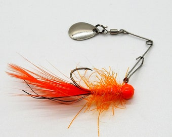 50 pack Crappie #2 red sickle hooks 1//16 oz and 1//32 oz in 5 colors