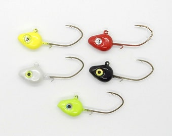 10 pk Jigs Custom Handmade 124 oz painted #4 sickle hook hand-tied