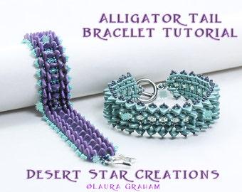 Paladin Cuff Bracelet Tutorial Tipp Two Hole Czech Beadweaving Cuff Pattern DiamonDuo Bead Arcos Par Puca Laura Graham PDF Instructions