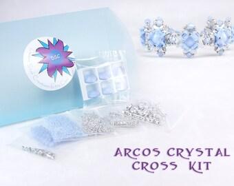 7fd1b3e4fd Arcos Crystal Cross Bracelet Bead Kit in Sky Blue Opal Silver