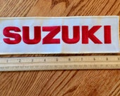 Suzuki patch, large, 10 quot , vintage supply, jacket size, embroidered, sew on