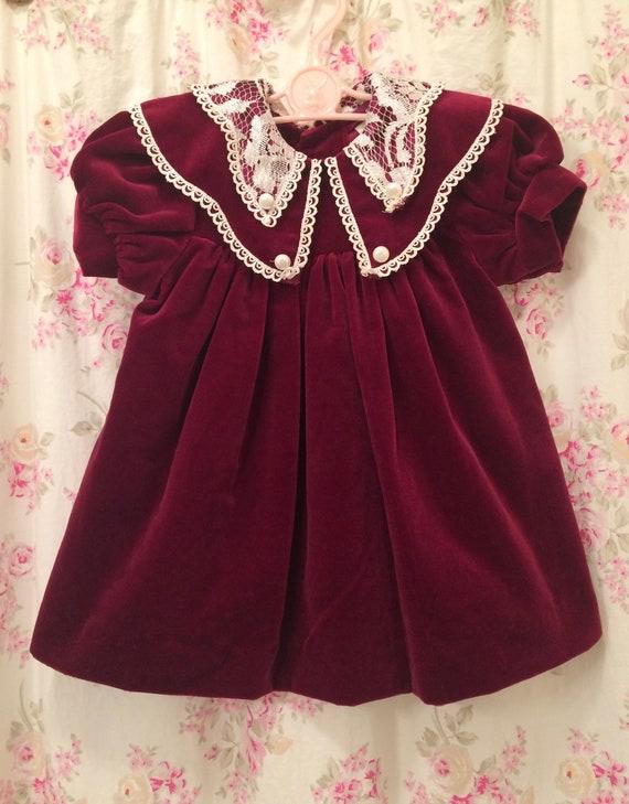 christmas dress velvet dress 12 months rare editions usa