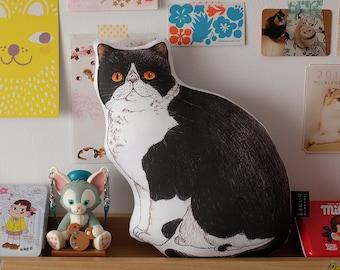 Panko the Cat Small Illustrated Cushion