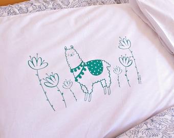 Alpaca Garden Screen printed Pillow Case