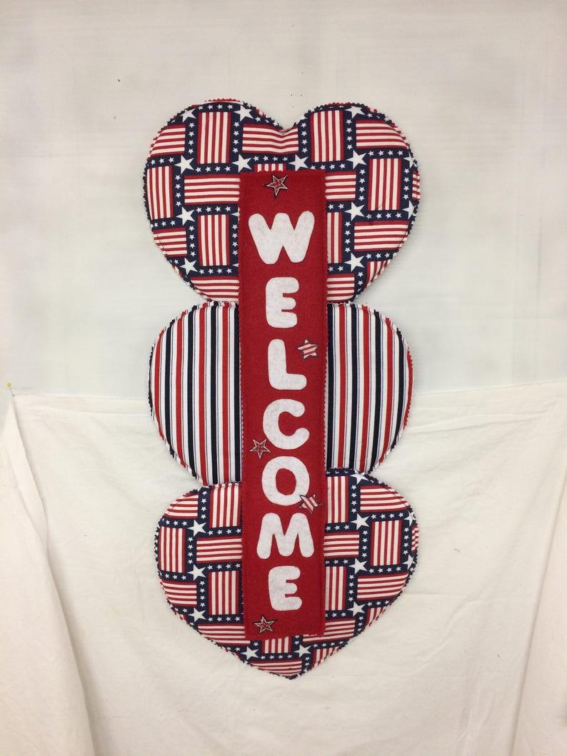 RedWhiteBlue  Hearts Welcome
