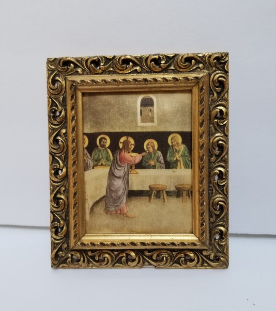 Small Carved Wood Picture Frame Ornate Baroque Gold Gilt Satin Etsy