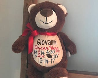 db90322eb61 personalized birth announcement stuffed animal