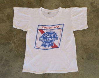 bf046a09e118a 1960s Vintage Pabst Beer T-shirt / Vintage 60s Tee