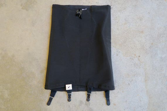 4b0fca818 DEADSTOCK 1960s Kayser Open Bottom Girdle   Vintage Black