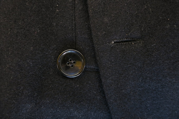 WWI Black Wool Military Greatcoat / 1910s Antique… - image 8