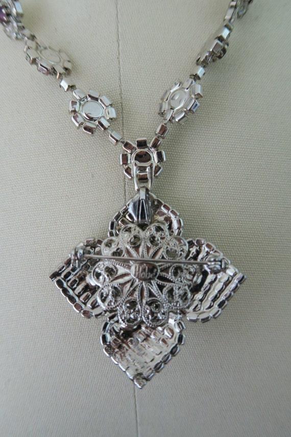 HOBÉ 1950s Rhinestone Necklace / Vintage Rhinesto… - image 4