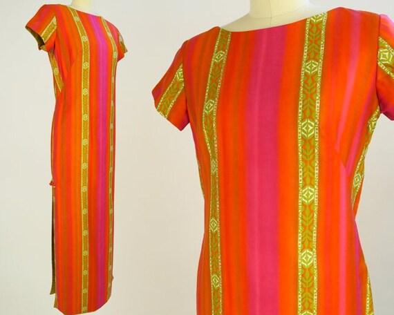 STAN HICKS Hawaiian Dress / 1960s Vintage Tiki Dre