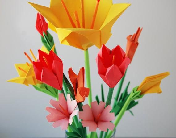 Bouquet de 10 fleurs sauvages etsy - Bouquet de fleurs sauvages ...