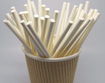 CANDY STICK - QTY 50 - 4 inches - Paper Stick - Treat Making - Party Supply - Cupcake Topper Supply - Wedding - Cake pops