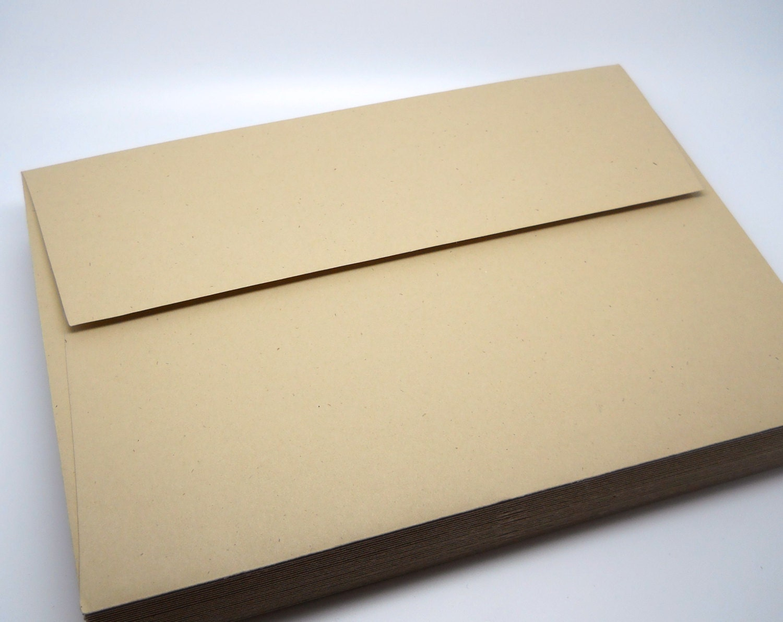 smooth kraft paper envelopes a7 5x7 qty 25 wedding