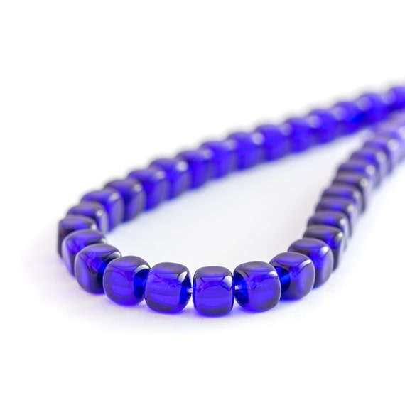 50 Cobalt Ruby Czech Pressed Rondelle Spacer Glass Beads 5mm