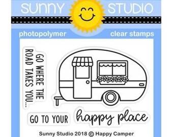 Sunny Studio -- Happy Camper Stamps -- NEW -- (#3144)