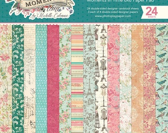 6 x 6 Paper Pad ~ Moments In Time ~ Double sided NEW (#2762)