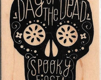 Halloween  Stamp --  NEW -- Day of the Dead Skull  --  (#2797)